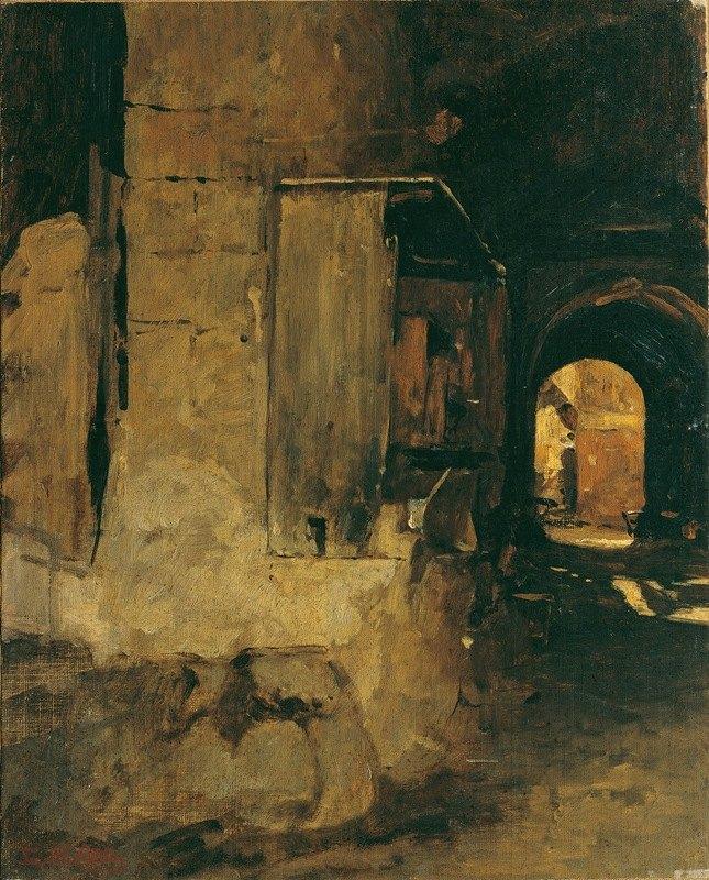 Leopold Carl Müller - Tor eines arabischen Hauses
