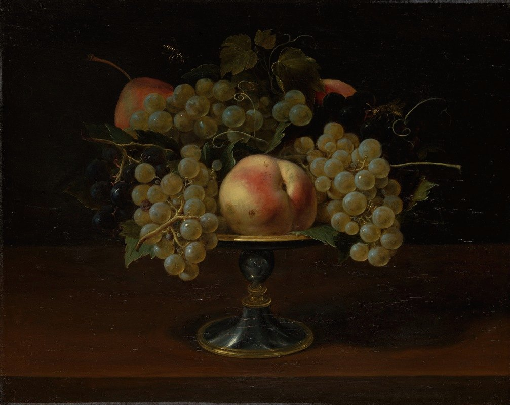 Panfilo Nuvolone - Still Life of Grapes and Peaches