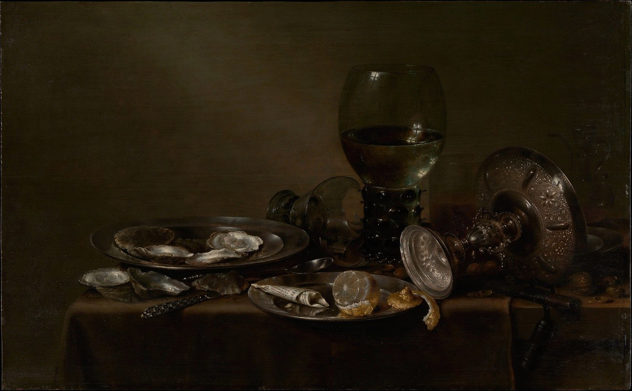 Willem Claesz Heda - Still Life with Oysters, a Silver Tazza, and Glassware