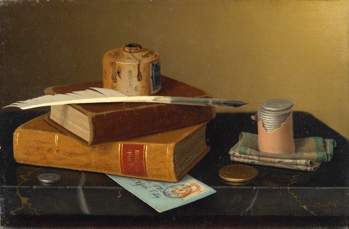 William Michael Harnett - The Banker's Table