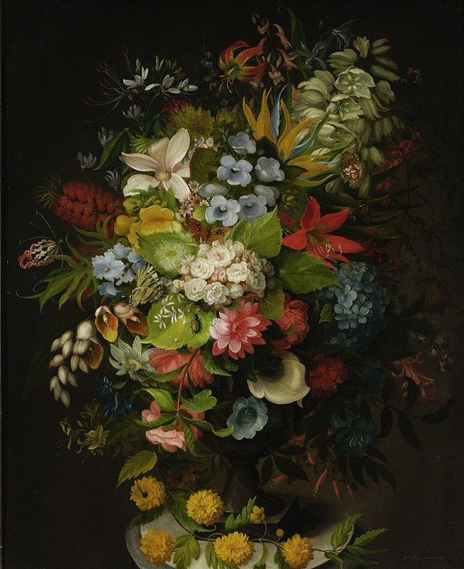 Henryka Beyer - Bouquet of flowers in a vase