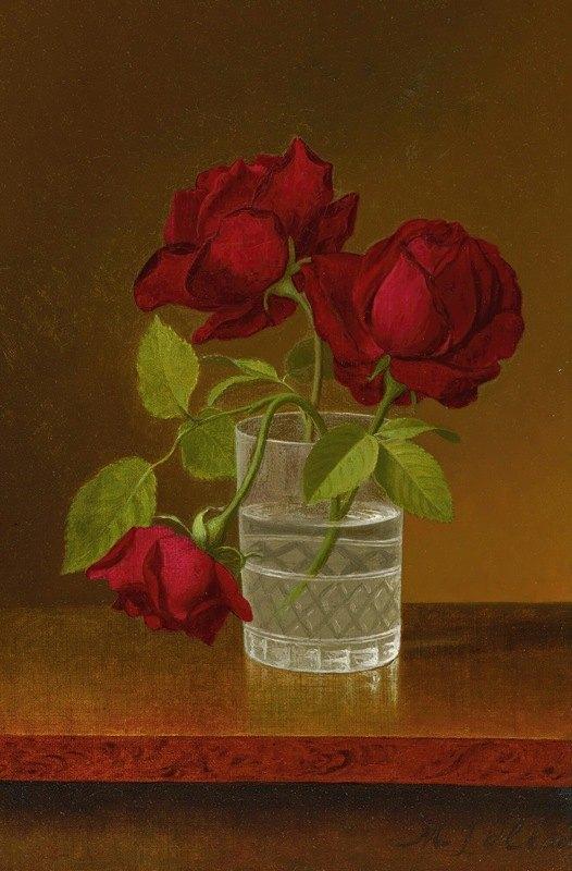 Martin Johnson Heade - Still Life Of Roses