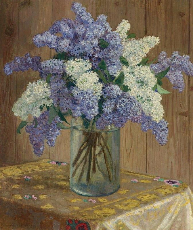 Nikolai Petrovich Bogdanov-Belsky - Still Life With Lilacs