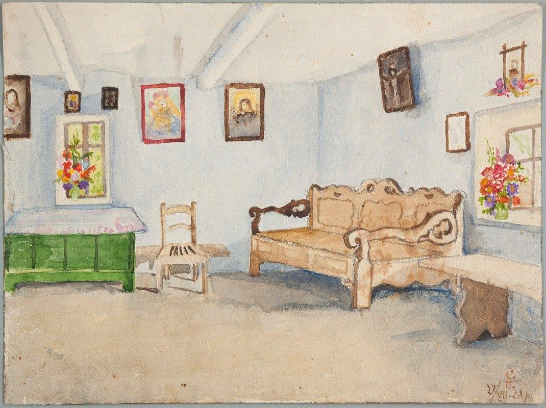 Sofija Paraszczuk - Wnętrze izby