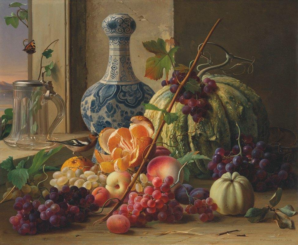 Carl Vilhelm Balsgaard - A still life of fruit