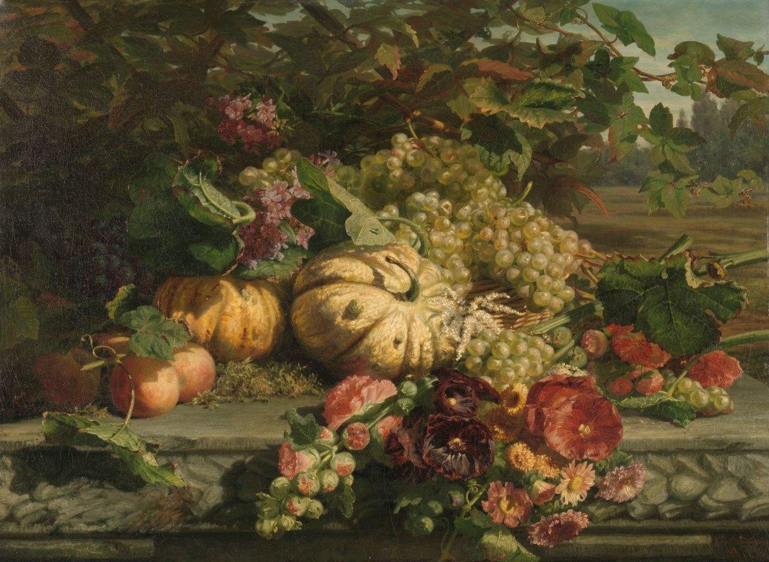 Gerardina Jacoba van de Sande Bakhuyzen - Still Life with Flowers and Fruit
