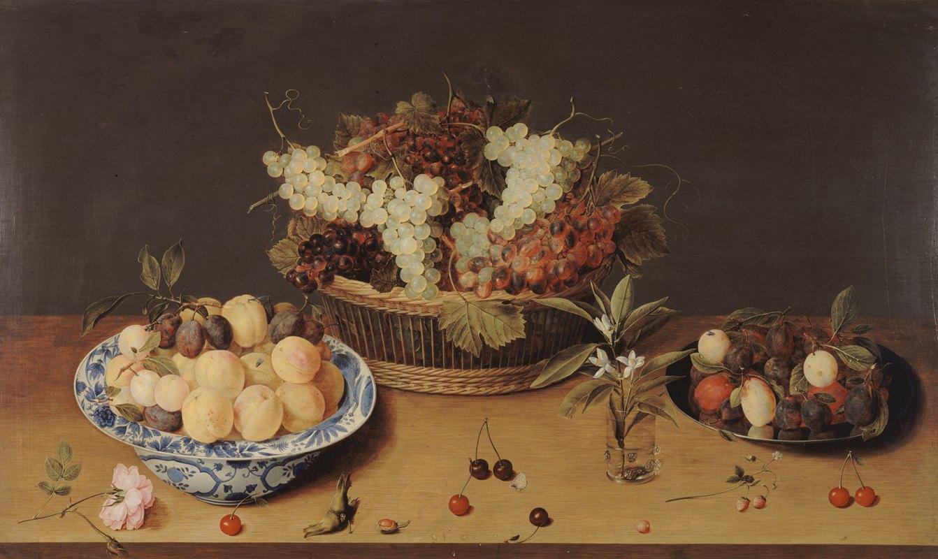 Isaac Soreau - Nature morte de fruits et de fleurs