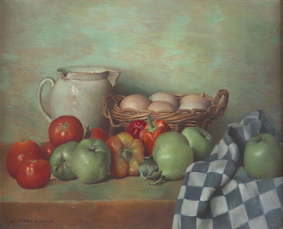 Jan Ingenhoes - Küchenstillleben mit Eiern