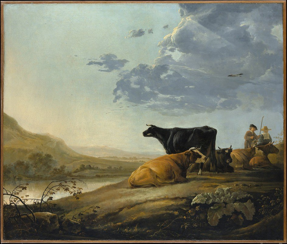 Aelbert Cuyp - Young Herdsmen with Cows