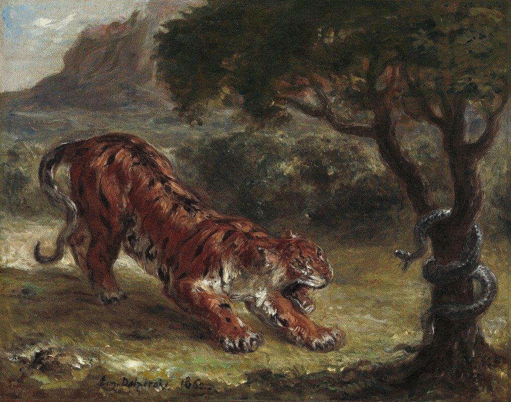 Eugène Delacroix - Tiger and Snake