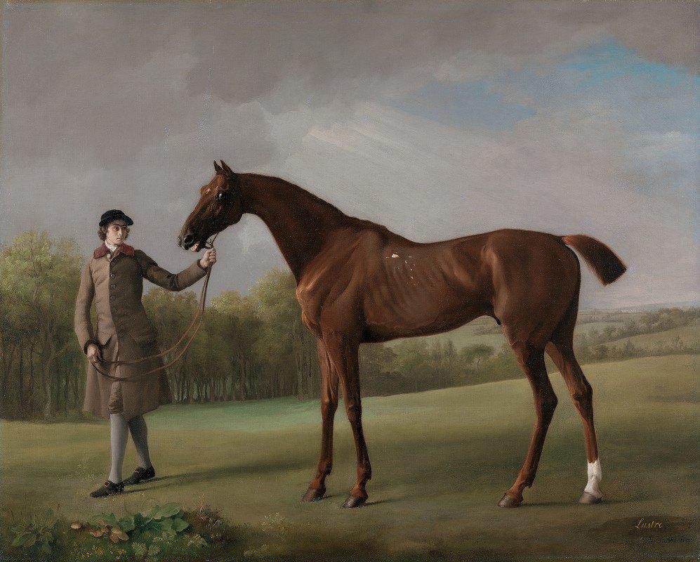 George Stubbs - Lustre, held by a Groom