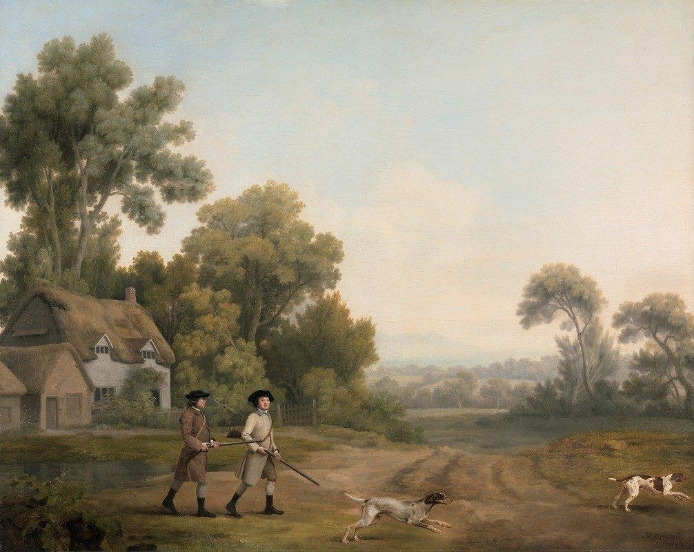 George Stubbs - Two Gentlemen Going a Shooting