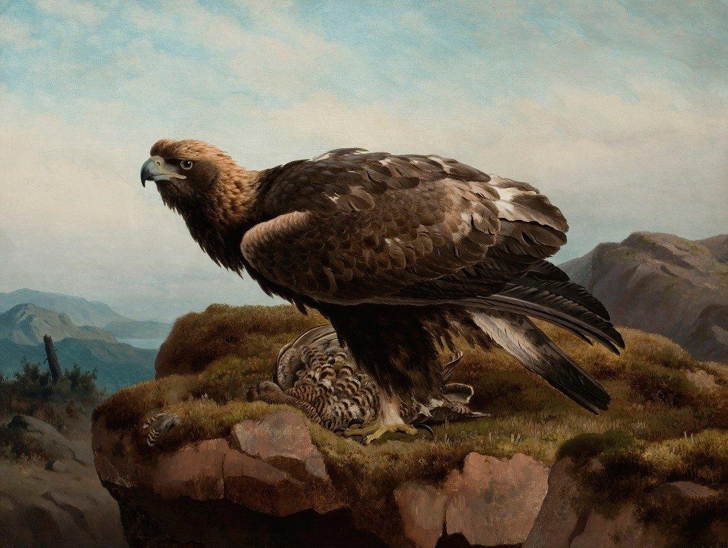Ferdinand von Wright - Golden Eagle At A Cliff's Edge