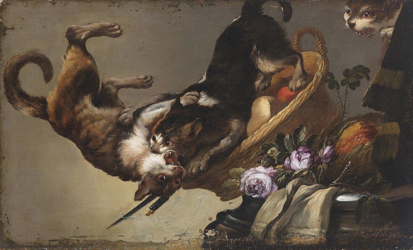 Frans Snyders - Kämpfende Katzen