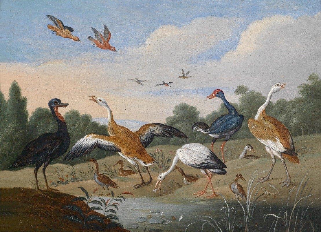 Jan Van Kessel The Elder - Reiher und Enten