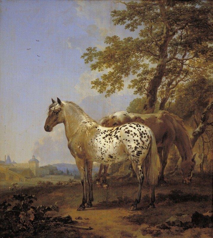Nicolaes Pietersz. Berchem - Two Horses in a Landscape