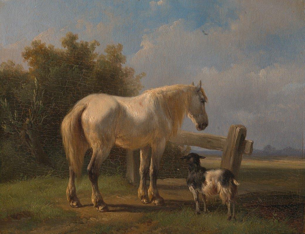 Wouterus Verschuur - Horse in the meadow