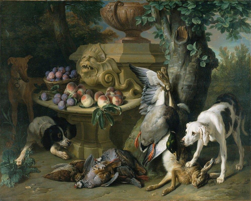 Alexandre François Desportes - Dogs, Dead Game and Fruit