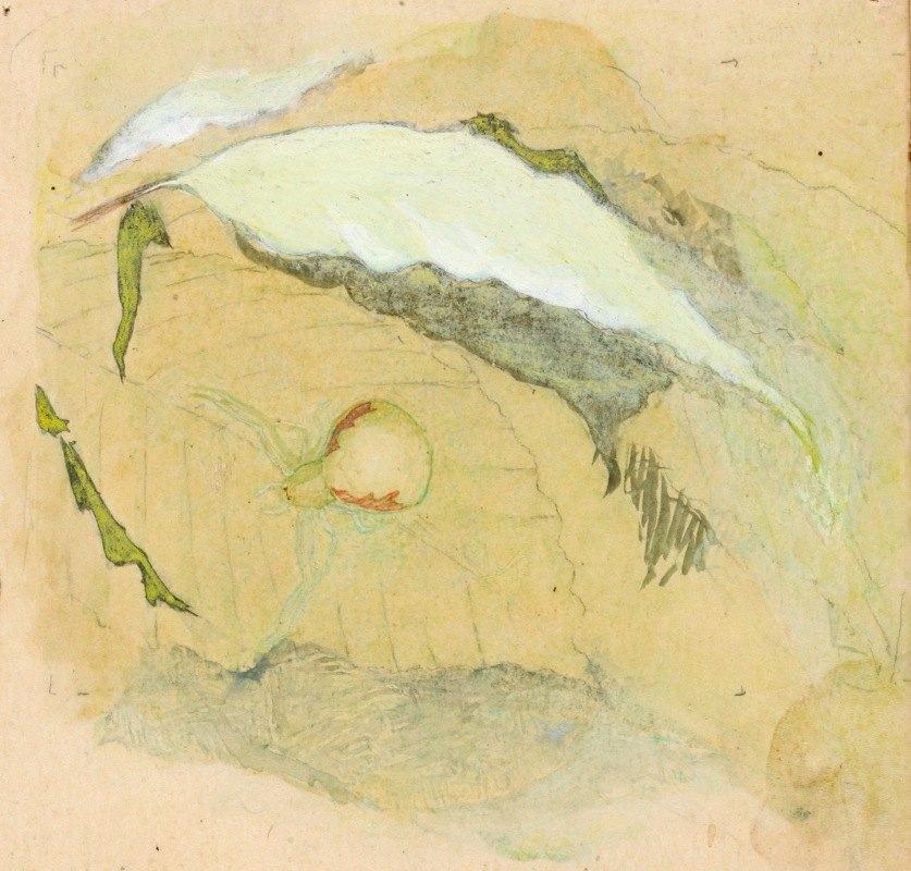 Emma Beach Thayer - Porcelain-White Spider
