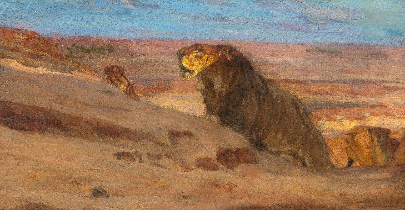 Henry Ossawa Tanner - Lions in the Desert