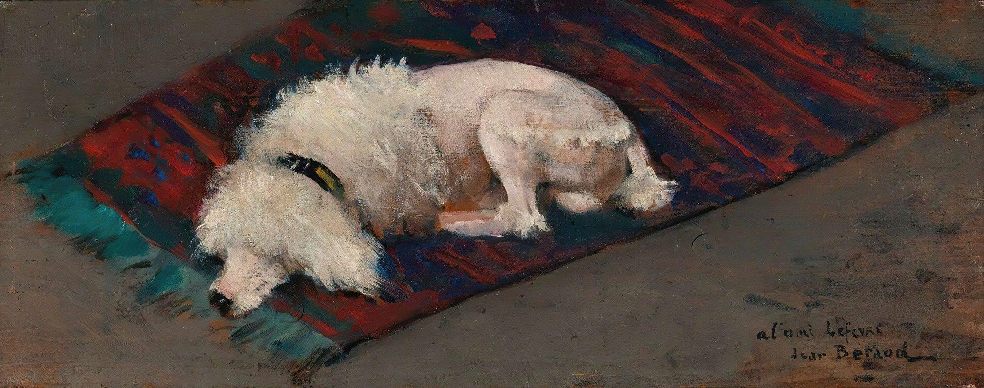 Jean Béraud - Le Caniche Blanc