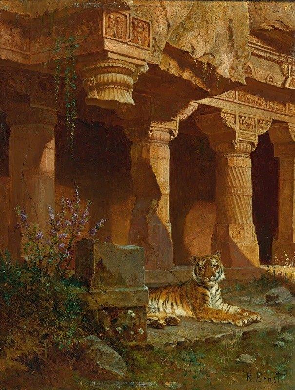Rudolf Ernst - Tiger At Rest