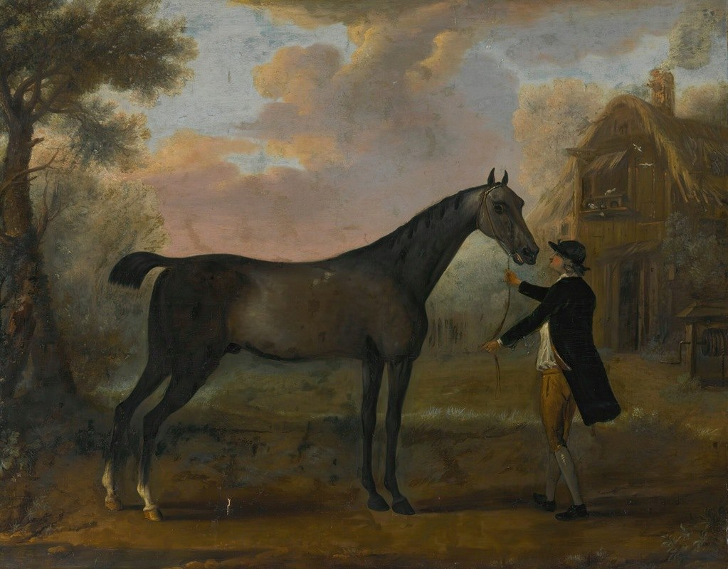 John Wootton - A horse and groom in a landscape