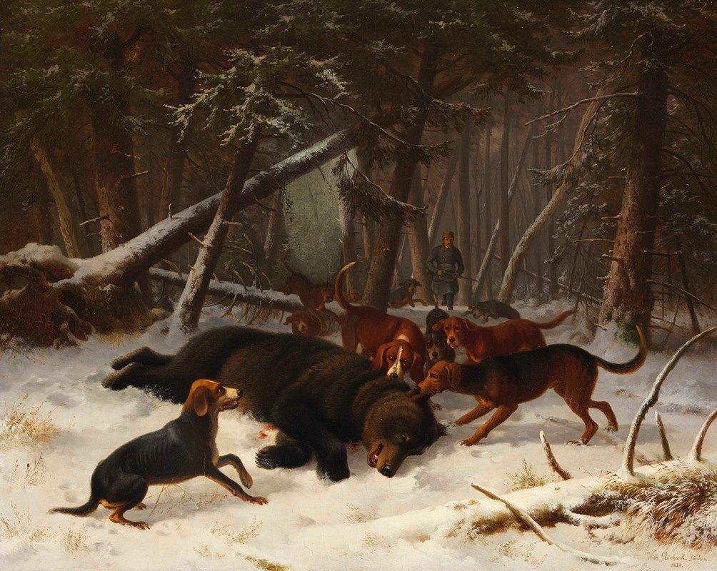Wilhelm Reinhardt - Bear hunt