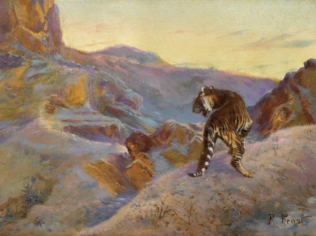 Rudolf Ernst - Tiger in the mountains