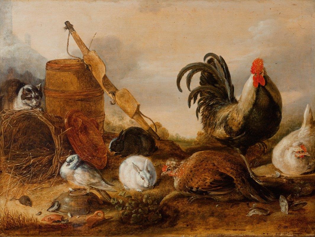 Gijsbert Gillisz. de Hondecoeter - Animals in the Yard