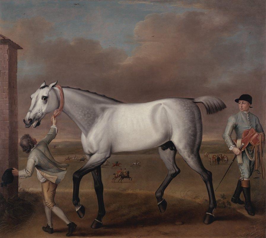 John Wootton - The Duke of Hamilton's Grey Racehorse 'Victorious' at Newmarket