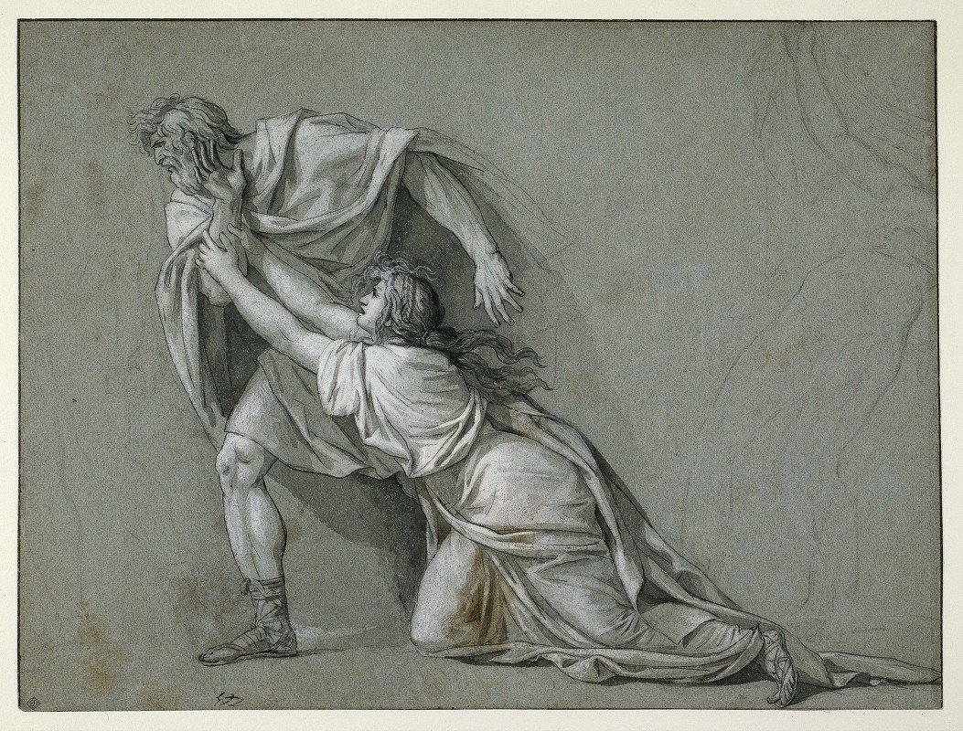 Jacques Louis David - The Departure of Marcus Attilius Regulus for Carthage