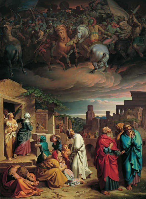 Joseph von Führich - Vision of the people of Jerusalem before the conquest of the city by Antiochus IV. Epiphanes