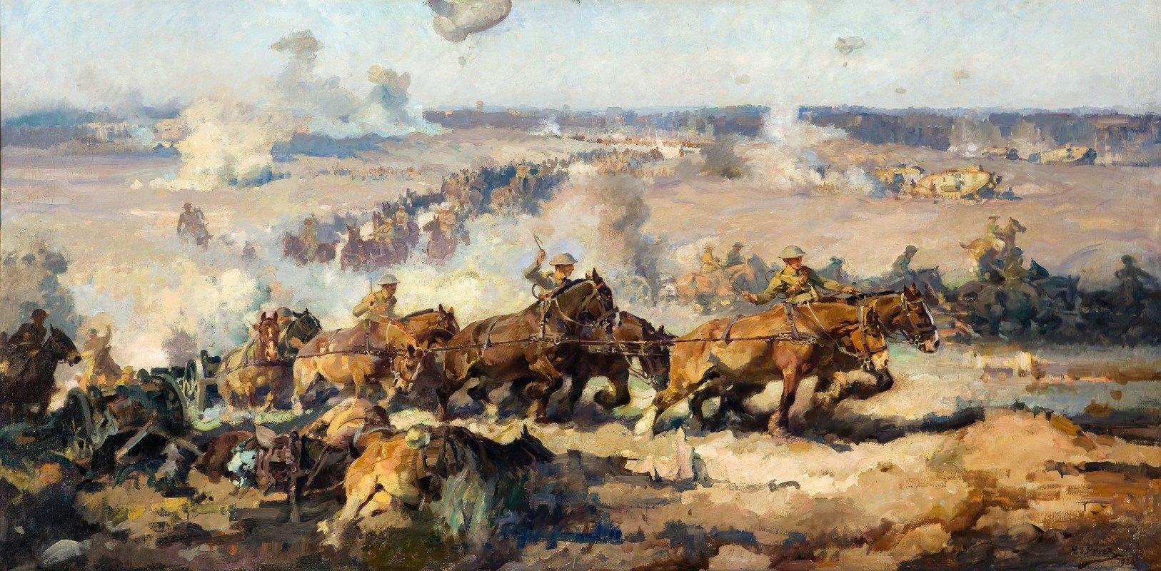 Septimus Power - The Battle Before Villers-Bretonneux, August 8th, 1918