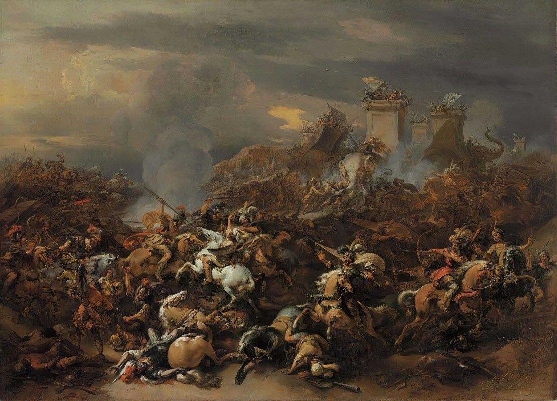 Nicolaes Pietersz. Berchem - The Battle between Alexander and Porus
