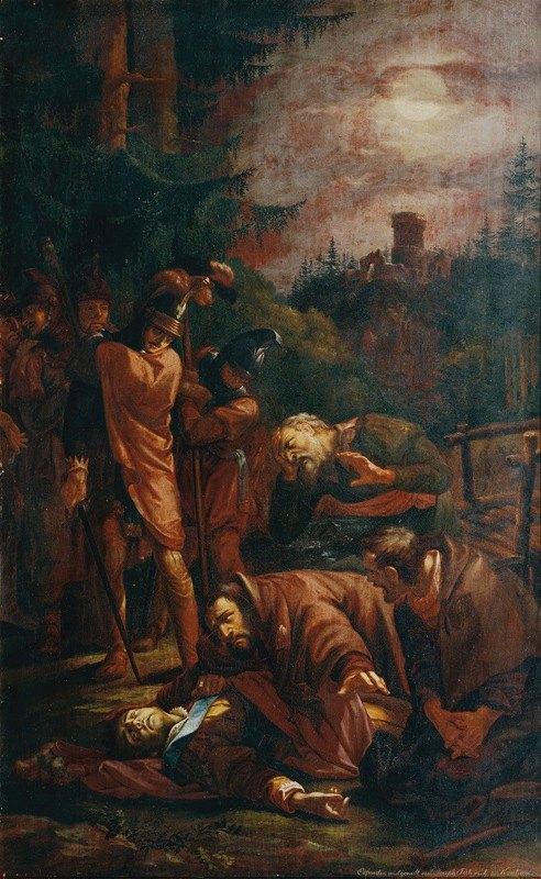 Joseph von Führich - Der Tod des Pfalzgrafen Otto von Bayern