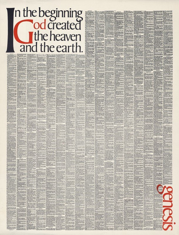 Herb Lubalin - In the beginning God created the heaven and the earth. Genesis