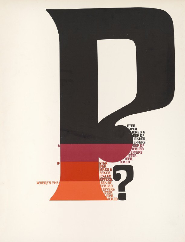 Herb Lubalin - Where's the 'P' if a Peter Piper picked a peck of pickled peppers…