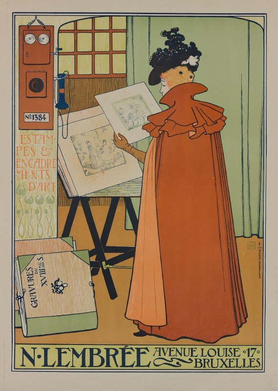 Theo van Rysselberghe - Poster for the Lembrée Gallery