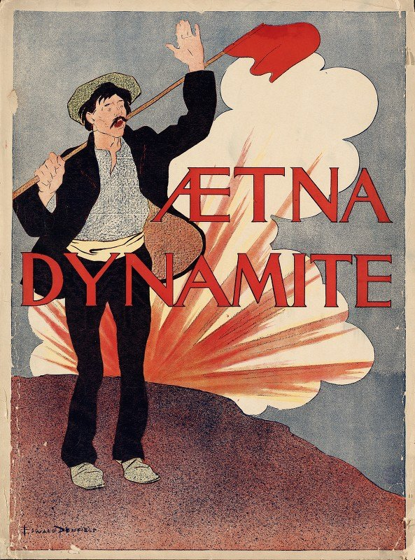 Edward Penfield - Aetna dynamite