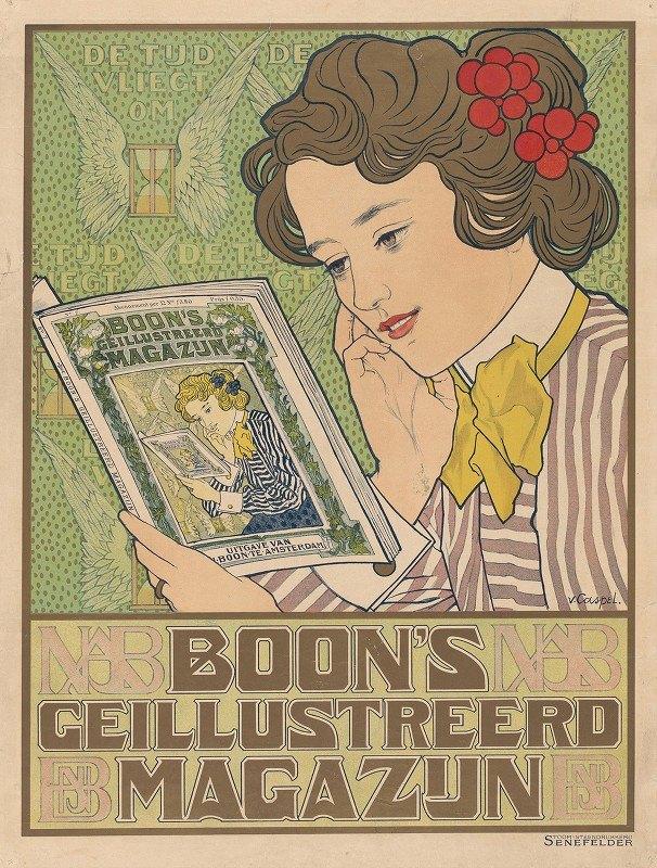 Johann Georg van Caspel - Poster for Boon's Illustrated Magazine