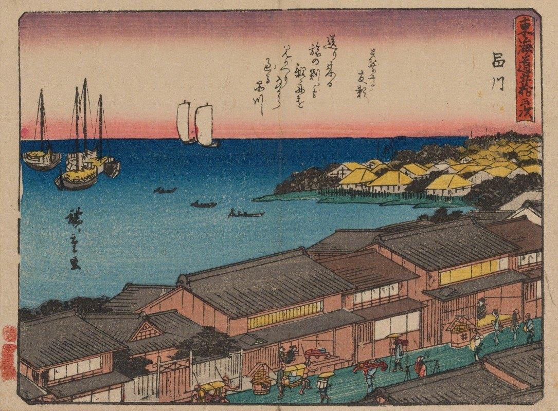 Andō Hiroshige - Tokaido gojusantsugi, Pl.02