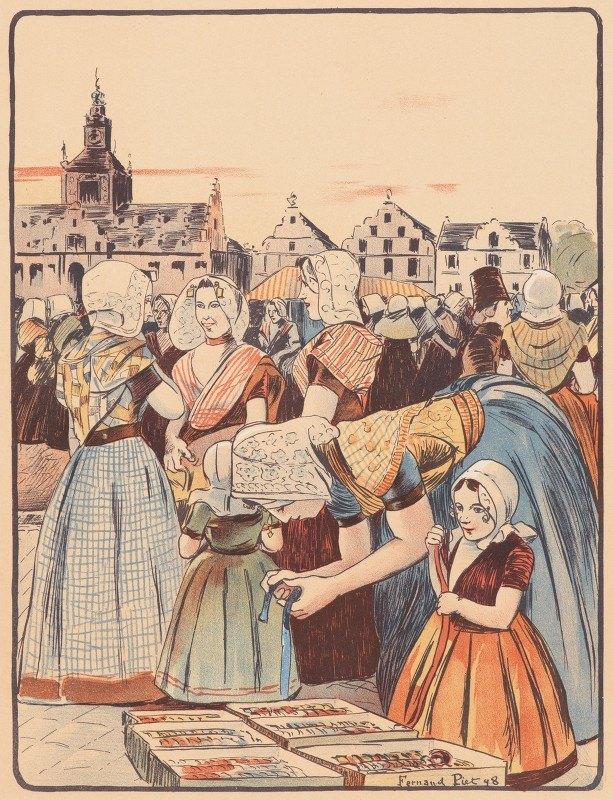 Fernand Piet - Un Marché En Zélande