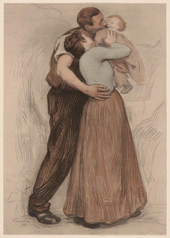 Victor Emile Prouvé - The Kiss (Le Baiser)