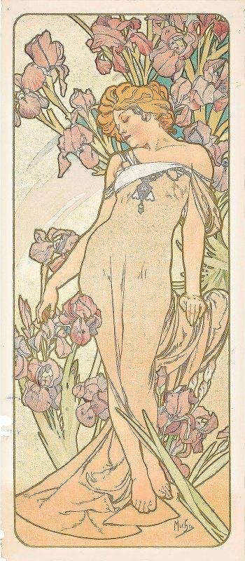 Alphonse Mucha - The Iris