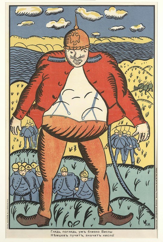 Kazimir Malevich - Look, Look, Near The Vistula. The German Bellies Are Swelling Up. So They Don't Feel So Good