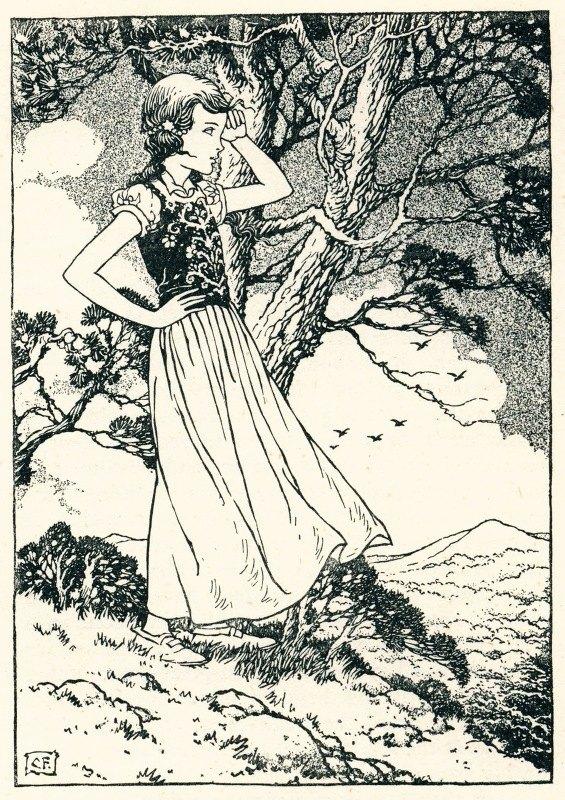Charles Folkard - Once more Irene heard the bugle blast