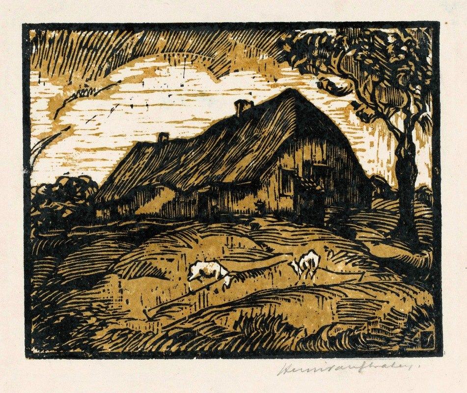 Hendrik van der Straaten - Boerderij met geiten