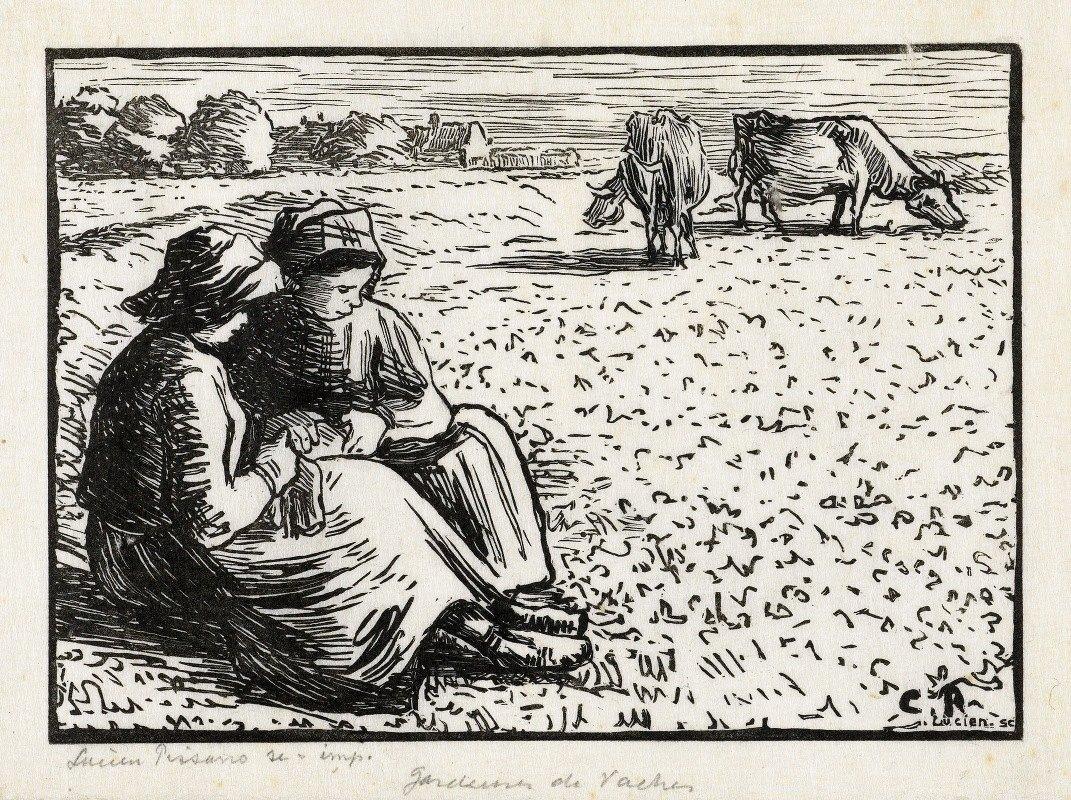 Lucien Pissarro - Twee veehoedsters