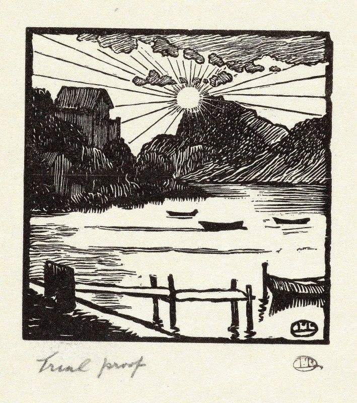 Lucien Pissarro - Zonsopgang boven een meer